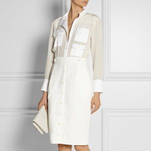 Altuzarra Ramona Silk Crepe De Chine Shirt Dress!